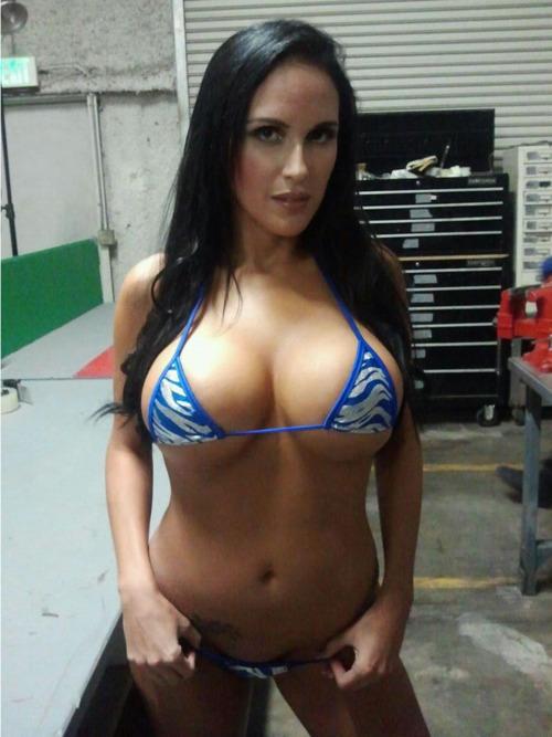 a very small bikini.