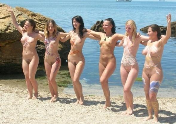 Fucking Beach - Blondes On Beach Teasing