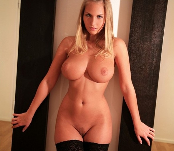Blonde with seductive hips