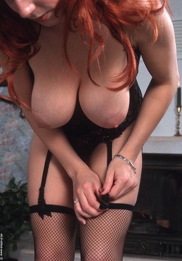 big boobs with hot stocking