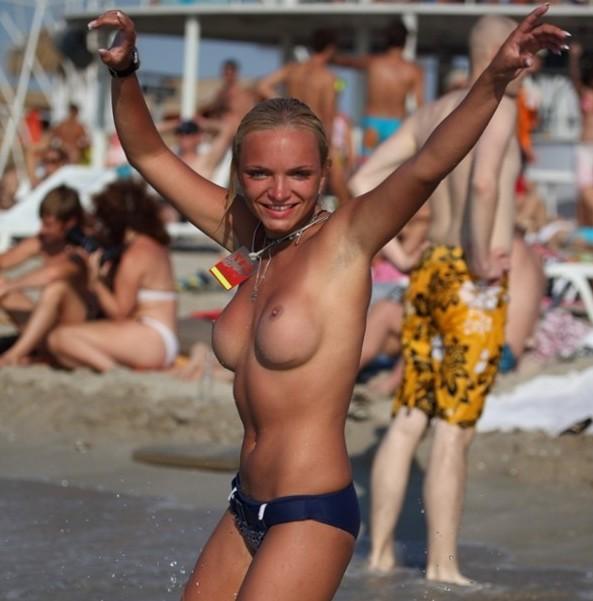 Pussy on Beach - Beach Shower