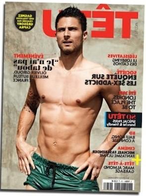Olivier Giroud, primer futbolista francés portada de Têtu - A quién le importa
