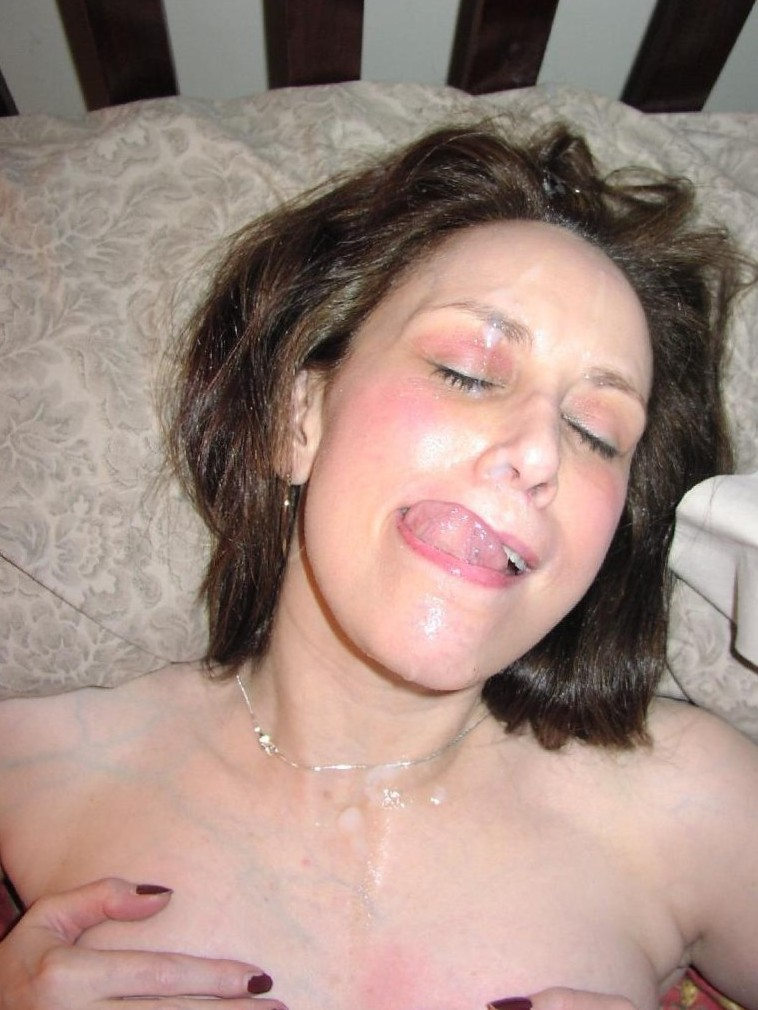 cum on my face and breasts