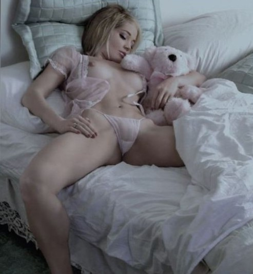 That Teddy bear is totally copping a feel!