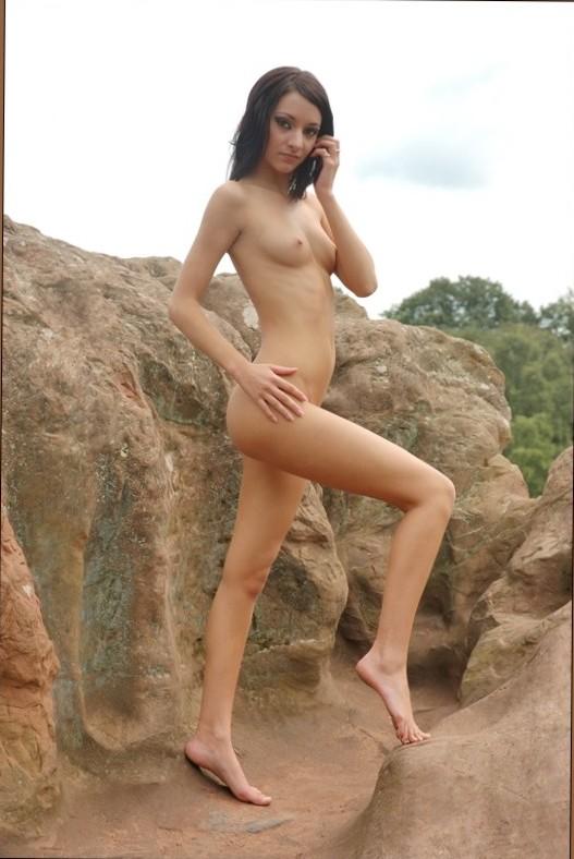 Boobs on Public - Nude Bath Outdoors