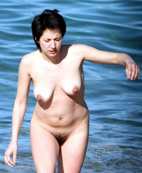 Cunts on Beach - Hot sexy girl beach have one of her favorite fetishes is flashing her tight wet slit and her tits out in public.